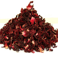 HIBISCUS TEA - Wildcrafted Hibiscus, Herbal Tea, Loose Tea, Handcrafted Loose Leaf Tea, Roselle Tea, Wildcraft, Flower Teas 60g Tin