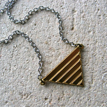 triangle necklace. simple art deco
