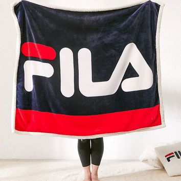 FILA + UO Sherpa Throw Blanket | Urban Outfitters
