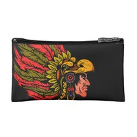 Indian Chieftain head illustration Cosmetic Bag