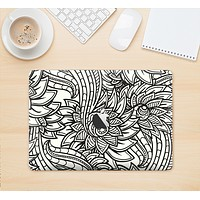 "The Black & White Vector Floral Connect Skin Kit for the 12"" Apple MacBook"