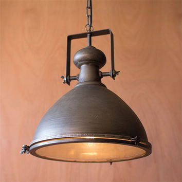 Kalalou CLL1130 Metal One-Light Dome Pendant III