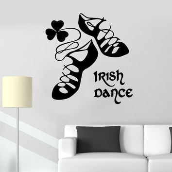 Vinyl decal irish dance ireland stepdance ghillies celtic decor wall sticker unique gift ig253