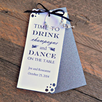 Champagne Charm Favors for Weddings , Birthdays , Engagement Parties , Halloween, Christmas & New Years Eve Parties
