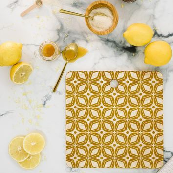 Heather Dutton Starbust Gold Cutting Board Square