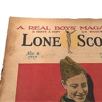 Lone Scout Newspaper |  The Real Boys Magazine |  November 8 |  1919 |  Photos by PET