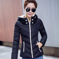 Hooded Zippered Winter Coat