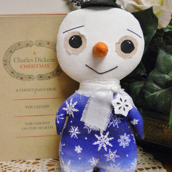Primitive Snowman Doll $22.95 plus shipping