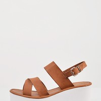 Crossover Slingback Wedge Sandals