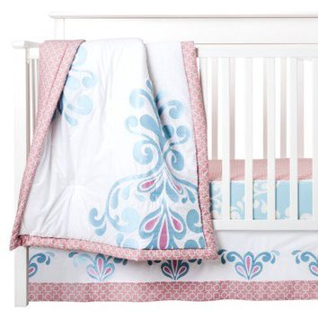 Castle Hill Kitts 3pc Baby Girl Bedding Set