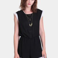 Drift Along Scallop Romper