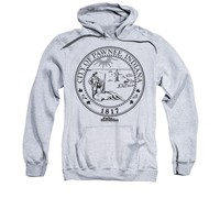 Parks And Recreation Pawnee Seal Licensed Adult Pullover Hoodie