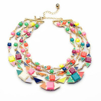 Multi Layer Candy Statement Necklace