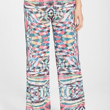 Women's Becca 'Cozumel' Print Crinkled Chiffon Cover-Up Pants,