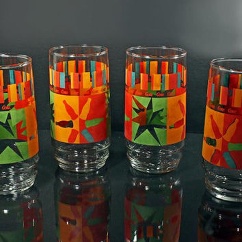 Coke / Coca-Cola Tumblers Collectible Glasses Set of 4