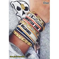 DIOR Fashion New More Letter Tassel Bracelet Women Accessories