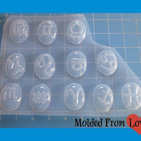 30 mm Zodiac Sign Cabochons You Chose Sign Handsculpted Resin Mold
