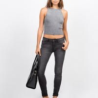 Lightweight Faded Wash Skinny Jeans