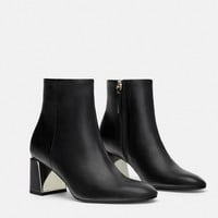 HEELED ANKLE BOOTS WITH METAL DETAIL DETAILS