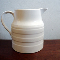 vintage all white pitcher lord nelson by valeriesvintagehome