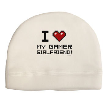 I Heart My Gamer Girlfriend Adult Fleece Beanie Cap Hat