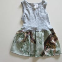 Vintage Jurassic Park DNA Dinosaur Toddler Girl Dress