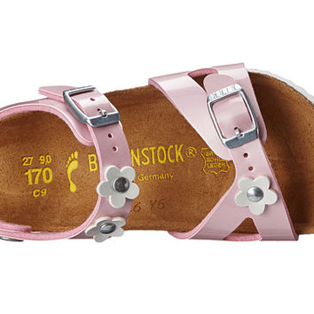 Birkenstock Kids Rio Flowers (Toddler/Little Kid/Big Kid) Pearly Rose Birko-Flor™ - Zappos.com Free Shipping BOTH Ways