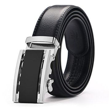 """Men's Belts,Iztor Leather Ratchet Dress Belt with Automatic Buckle 1 3/8 Wider for from 20"""" to 43"""" Waist"""