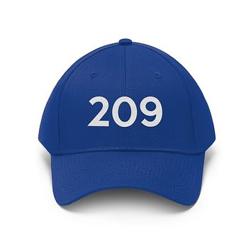 California 209 Area Code Embroidered Twill Hat