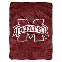Mississippi State Bulldogs NCAA Micro Raschel Blanket (Grunge Series) (46in x 60in)