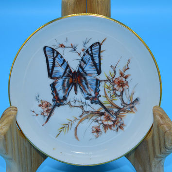 JKW Kuba Bavaria Butterfly Ceramic Coaster Vintage Josef Kuba Butterfly Plate Western Germany Decorative Plate Gift for Her Mothers Day