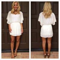Simple Life Chiffon Dress - WHITE