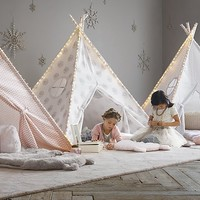Printed Canvas Teepee Tent