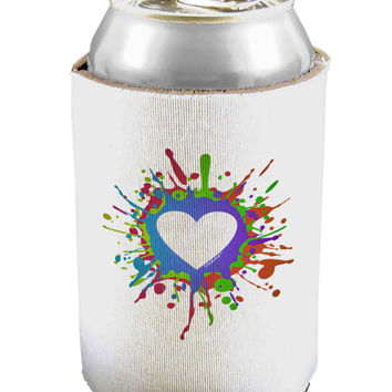 Heart Paint Splatter Can / Bottle Insulator Coolers