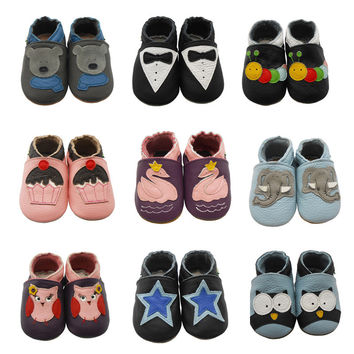 Soft Cow Leather Baby Slip-Ons