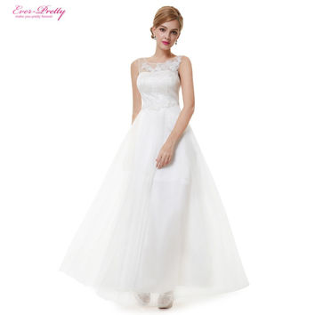 Wedding Dresses HE08447 Ball Gown Ever Pretty 2016 Women New Fashion Elegant White Vintage Sleeveless Lace Wedding Dress