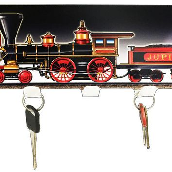 440 Train Laser Cut Out Reproduction Key Holder 6″x12″ Metal