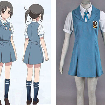 Wakana Sakai Costume School Uniform, Tari Tari Costume Cosplay
