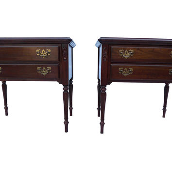 Ethan Allen End Tables, Pair