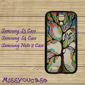 Samsung galaxy S3,Samsung galaxy S4,Samsung Galaxy Note2 Case,cute Samsung S3 Case,cute Samsung S4 Case,colorful tree,cool Samsung S4 case.