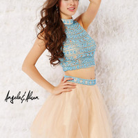 Angela & Alison 52044 Two Piece Cocktail Dress Homecoming Short Prom $450