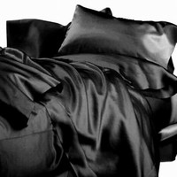 BLACK DOUBLE Size Satin Sheets | bidorbuy.co.za