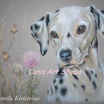 CUSTOM DOG PORTRAIT, Original Pastel drawing from photos, Hand drawn Personalized gift, Wedding,  birthday, jubilee,  Request order Dog Art