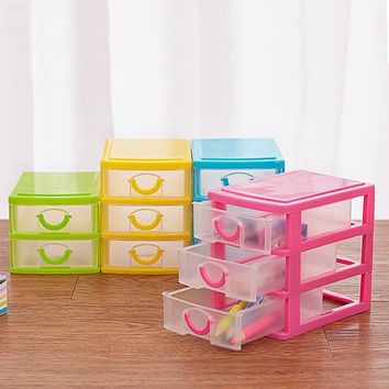 High Quality Layers Drawer Desk Organizer Storage Boxes Containers Jewelry Cosmetics Case