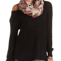 High-Low Off-the-Shoulder Tunic Sweater by Charlotte Russe