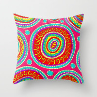 Positive Energy Throw Pillow by PeriwinklePeacoat
