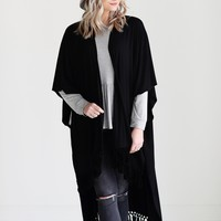 Black DLMN Tassel Trim Duster