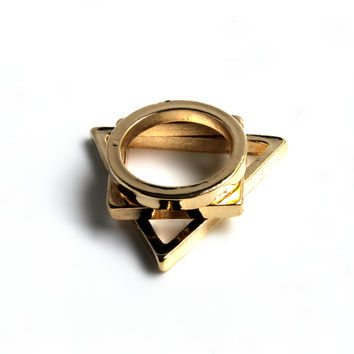 """Cheap Monday"" Gold Ring Set"