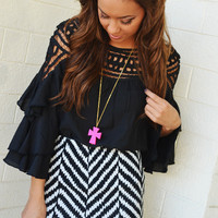 She's Unforgettable Skirt: Black And White | Hope's