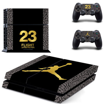Michael Jordan 23 for PS4 Skin Sticker For Sony Playstation 4 PS4 Console protection film and Cover Decals Of 2 Controller